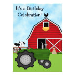 El tractor verde y el cumpleaños rojo del granero