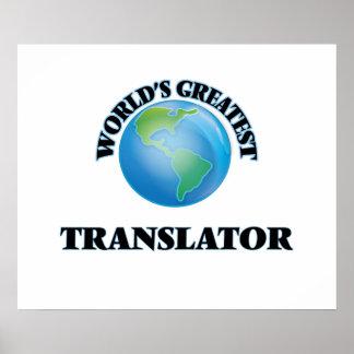 El traductor más grande del mundo posters