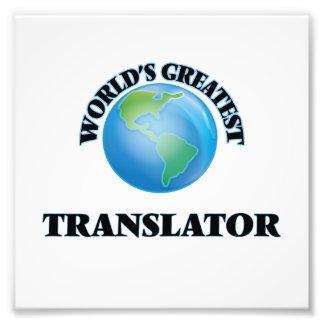 El traductor más grande del mundo cojinete
