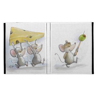 El traer en el folio del iPad del queso (con las a