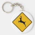 El tráfico de los ciervos, trafica la señal de pel llavero personalizado