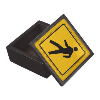 El tráfico peatonal, trafica la señal de peligro, cajas de joyas de calidad