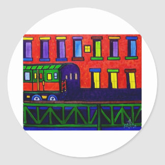 El Train Bronx Classic Round Sticker