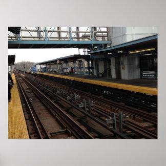 El Train Station Philadelphia Print
