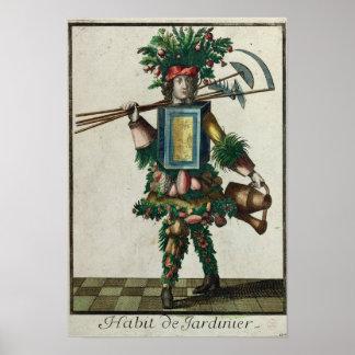 El traje del jardinero póster