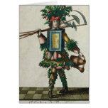 El traje del jardinero tarjeta de felicitación