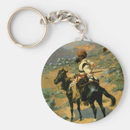 El trampero indio de Federico Remington (1889) Llaveros