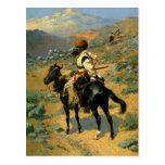 El trampero indio de Federico Remington (1889) Postal