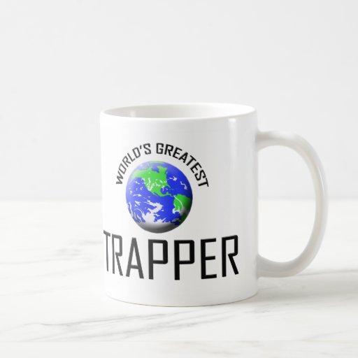 El trampero más grande del mundo taza básica blanca