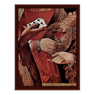 El tramposo con el as del detalle de los clubs tarjetas postales