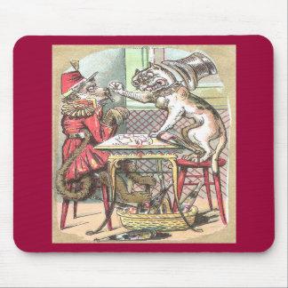 El tramposo de la tarjeta del mono dice el dogo tapetes de ratón