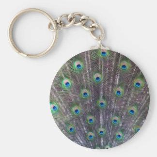 El trance de un pavo real - Keychaines Llavero Redondo Tipo Pin