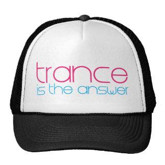 El trance es la respuesta gorras de camionero