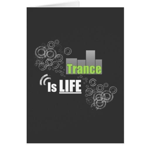 El trance es vida tarjeta de felicitación