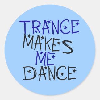 El trance hace que baila pegatina redonda