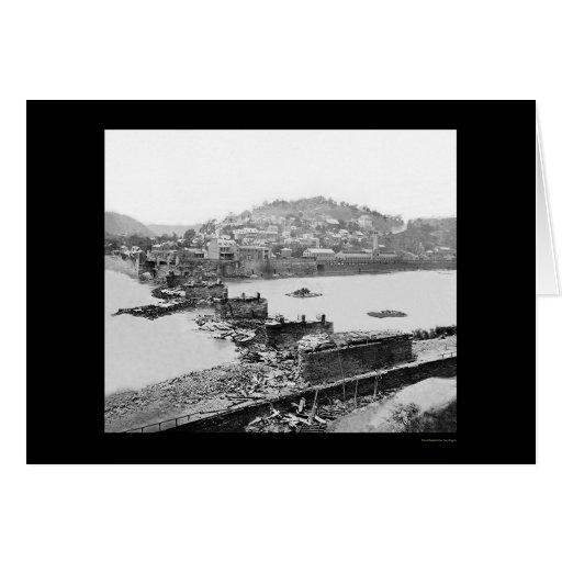 El transbordador de los Harpers, puente del Tarjeta De Felicitación