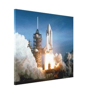 El transbordador espacial Columbia arruina apagado Impresiones En Lona Estiradas