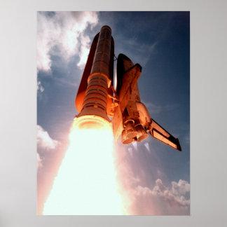 El transbordador espacial Columbia arruina apagado Póster