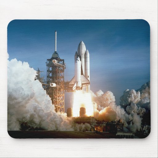 El transbordador espacial Columbia arruina apagado Alfombrilla De Ratones