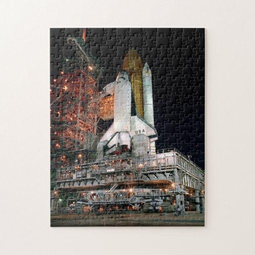 El transbordador espacial desarrolla rompecabezas con fotos