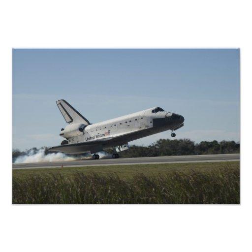 El transbordador espacial la Atlántida aterriza 2 Arte Fotográfico