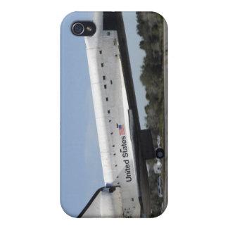 El transbordador espacial la Atlántida aterriza iPhone 4 Carcasa