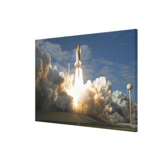 El transbordador espacial la Atlántida quita 24 Impresión En Lona