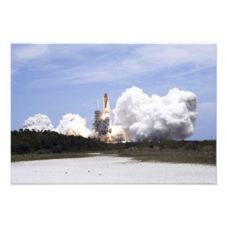 El transbordador espacial la Atlántida quita 4 Impresion Fotografica