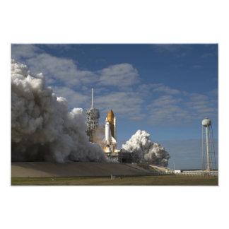 El transbordador espacial la Atlántida quita 7 Impresiones Fotograficas