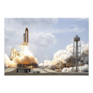 El transbordador espacial la Atlántida quita 9 Impresión Fotográfica