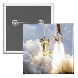 El transbordador espacial la Atlántida quita Pin Cuadrado