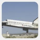 El transbordador espacial la Atlántida se prepara Pegatinas Cuadradas Personalizadas