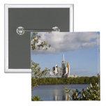 El transbordador espacial la Atlántida sienta Chapa Cuadrada 5 Cm