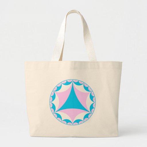 El transexual/el intersex colorea fractal bolsas lienzo