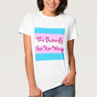 """El transexual MTF """"esta mariposa le consiguió las Camisas"""