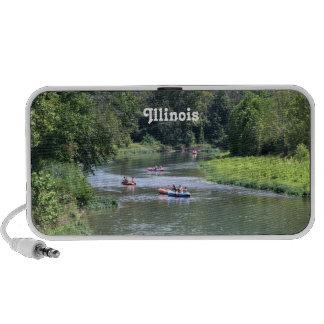 El transportar en balsa de Illinois Mini Altavoz