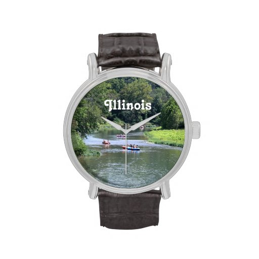 El transportar en balsa de Illinois Reloj