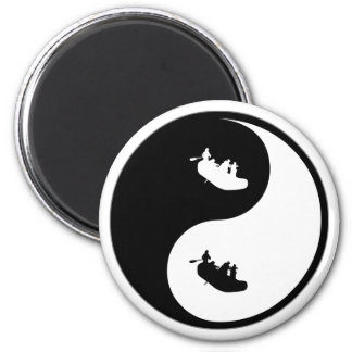 El transportar en balsa de Yin Yang Imán Redondo 5 Cm