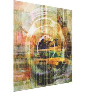 El transporte abstracto de San Francisco del vinta Impresion En Lona