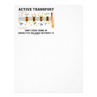El transporte activo no piensa en la balanza de membrete personalizado