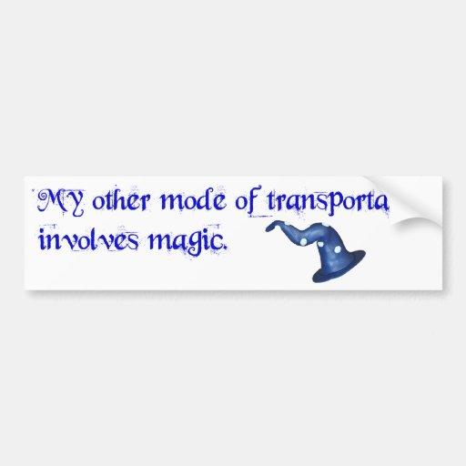 El transporte implica magia etiqueta de parachoque