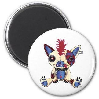 El Trapo-Babiez-Perro-Sentarse Imán Redondo 5 Cm