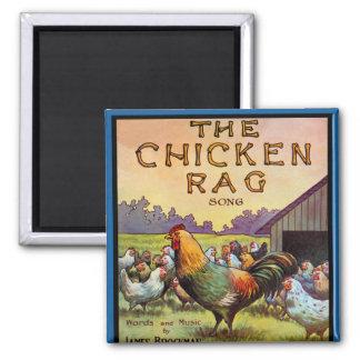 El trapo del pollo imán cuadrado
