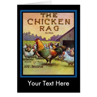 El trapo del pollo tarjeta de felicitación