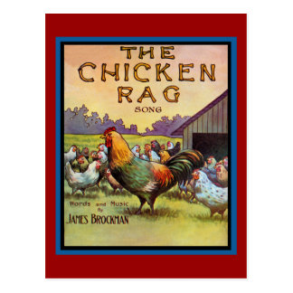 El trapo del pollo tarjeta postal