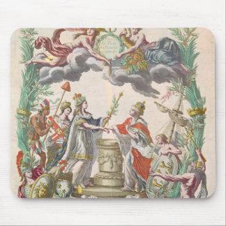 El tratado de Versalles en 1768 Alfombrillas De Ratón