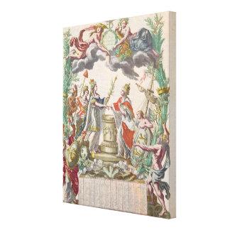 El tratado de Versalles en 1768 Lienzo Envuelto Para Galerias