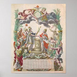 El tratado de Versalles en 1768 Póster
