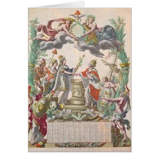 El tratado de Versalles en 1768 Tarjeta De Felicitación