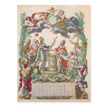 El tratado de Versalles en 1768 Tarjeta Postal